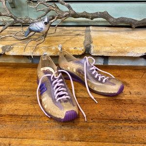 Melissa Grendene Clear Purple Jelly Shoes